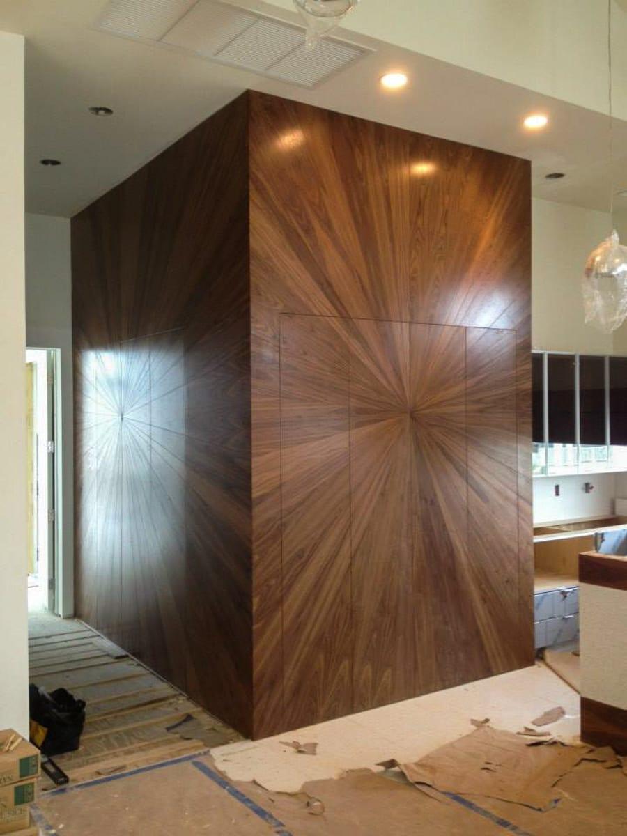 built-in radiate Walnut Cabinets