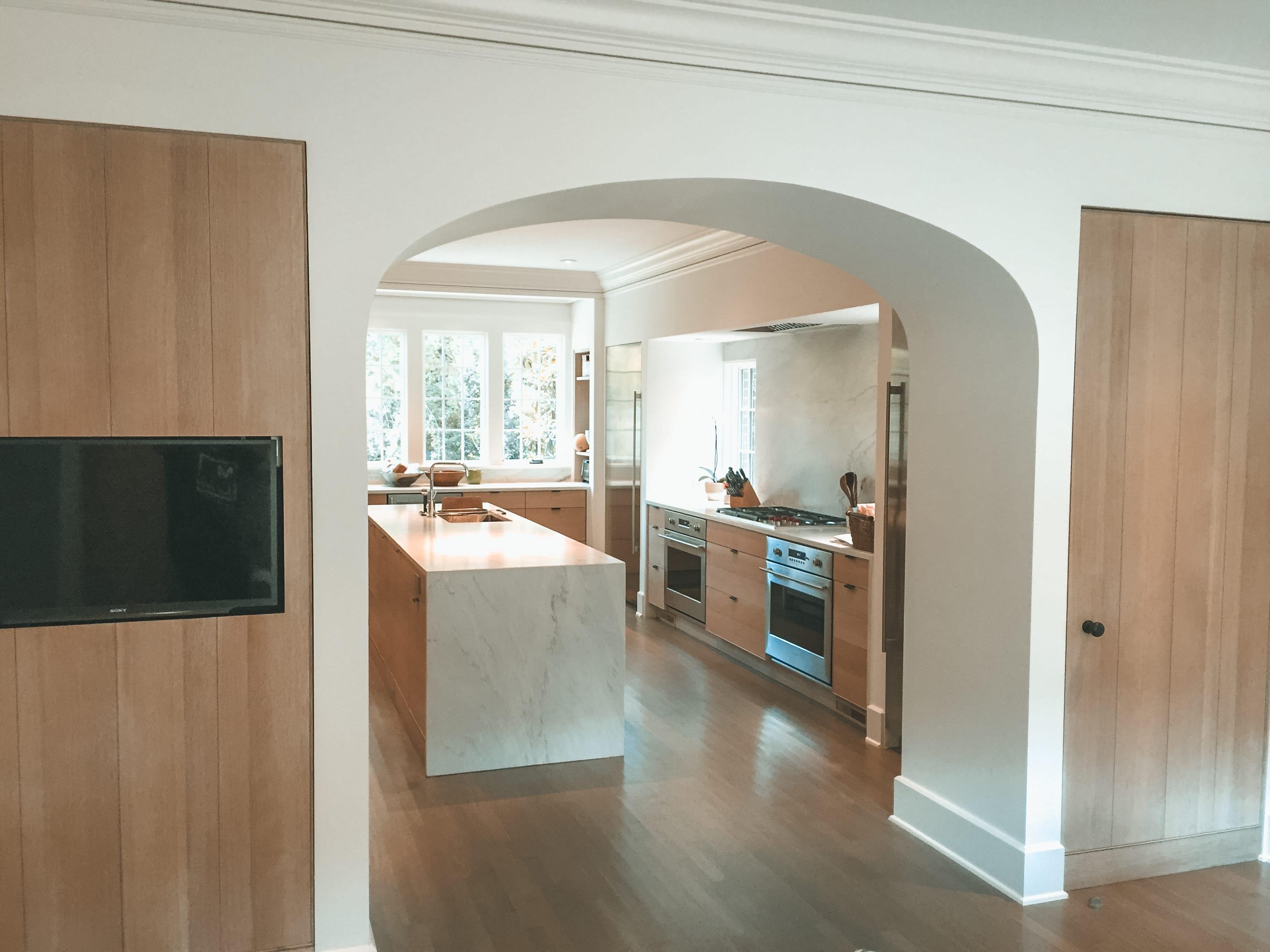 Simple White Oak Kitchen full view