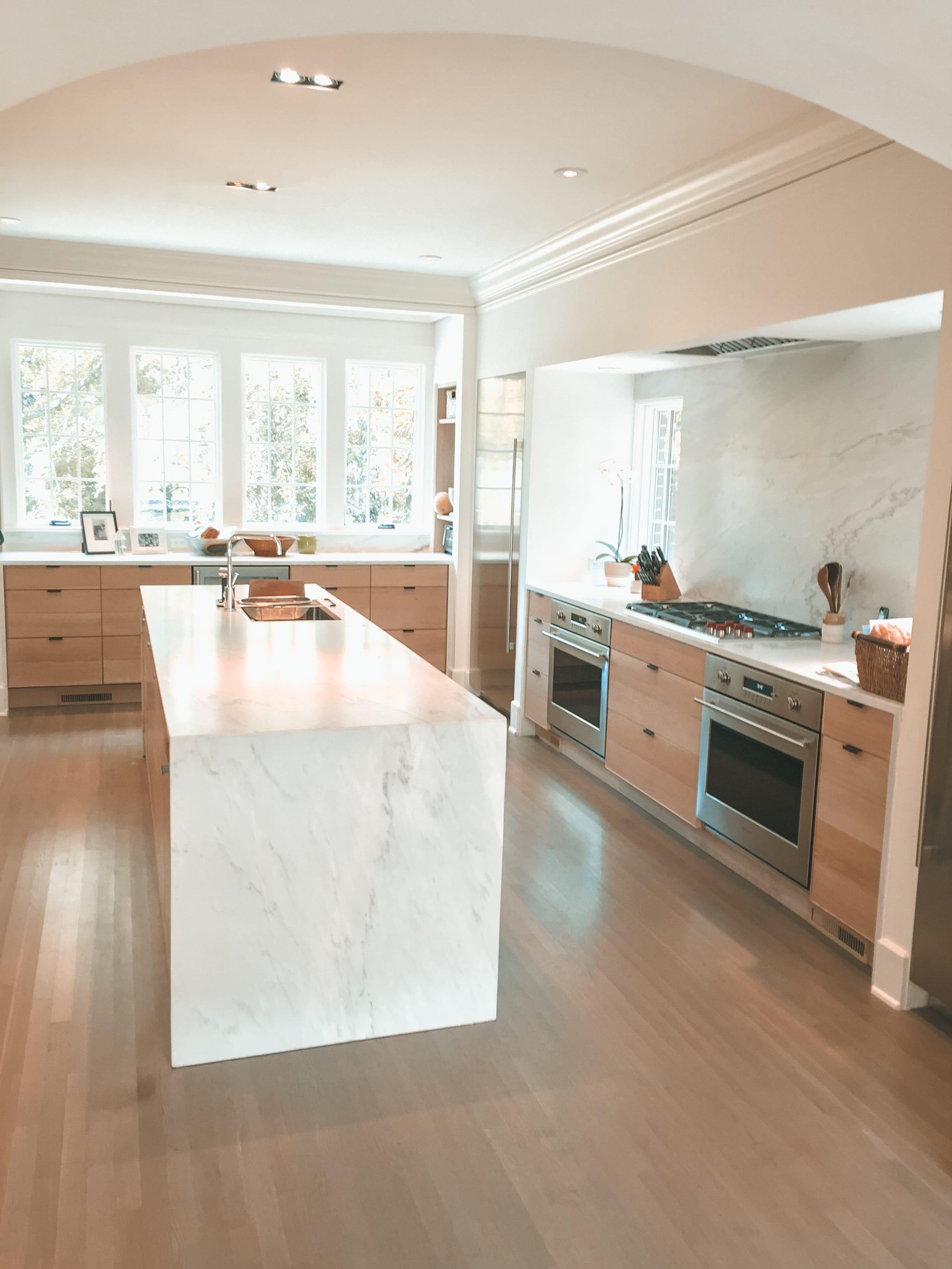 Simple White Oak Kitchen side view