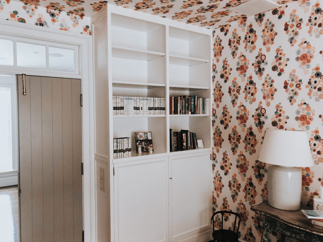 White Built In Bookcase