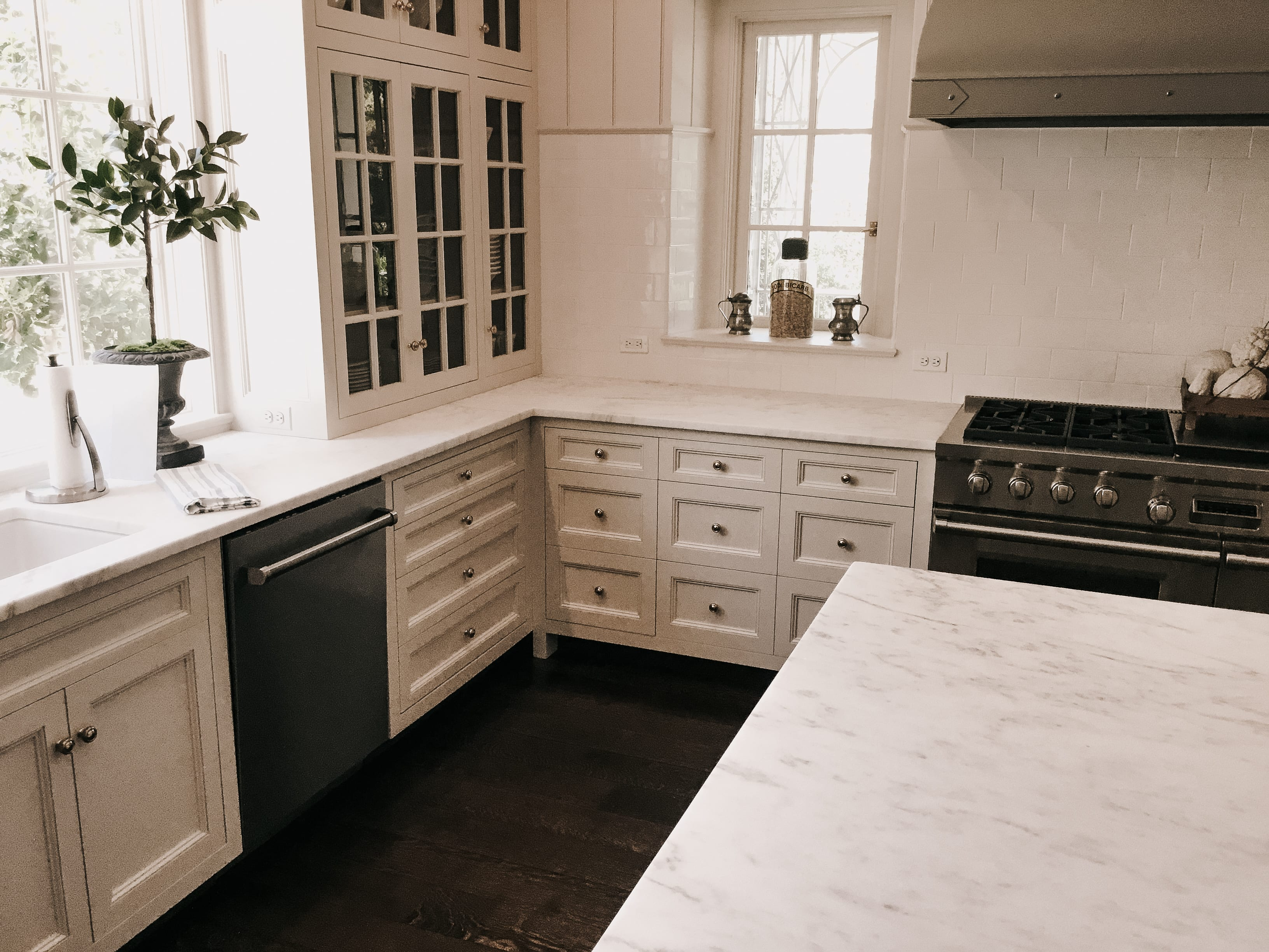 Classic White Kitchen side view
