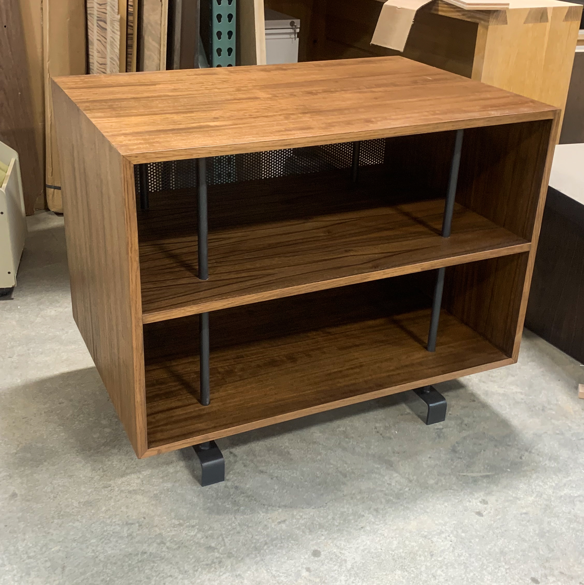 Paldao wood and steel side tables