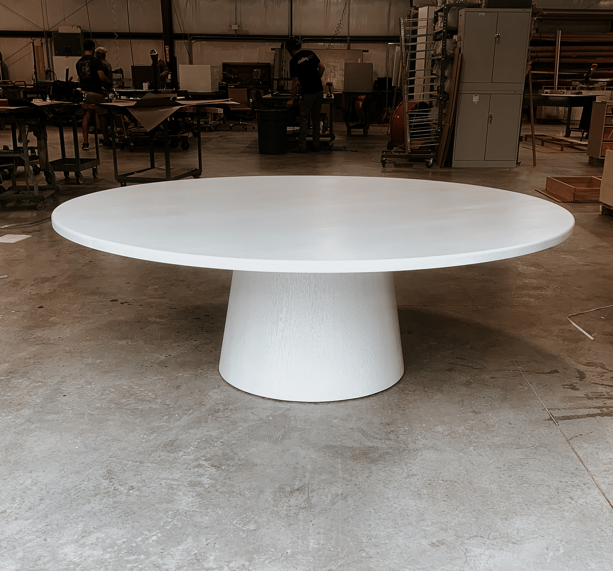Side view of Ghost White Dining Table
