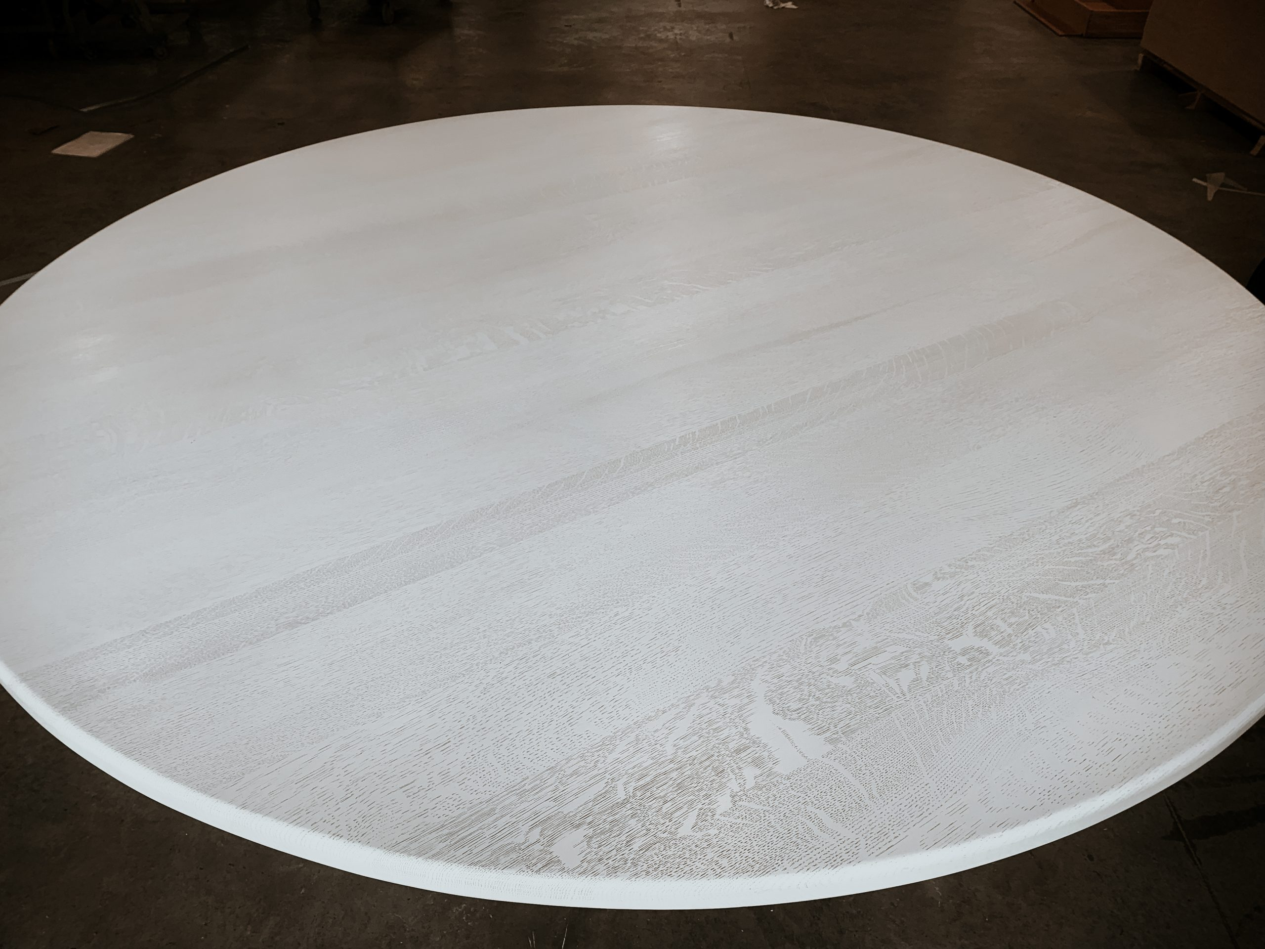 Wood grain of Ghost White Dining Table